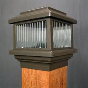 solar lights for 6x6 posts polaris bronze solar deck light for 6x6 wood post