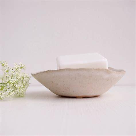 Handmade Soap Dish - handmade white ceramic stoneware soap dish by kabinshop