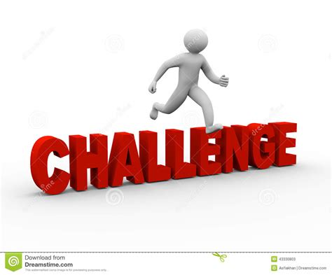 challenges in the world 3d jumping challenge stock illustration image