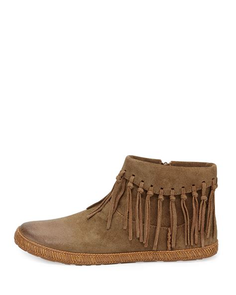 fringe boot lyst ugg shenandoah fringed boot in brown