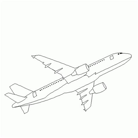free coloring pages of a380 airplane