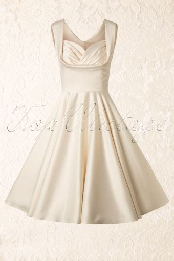 swing wedding dress 50s honey swing dress in ivory