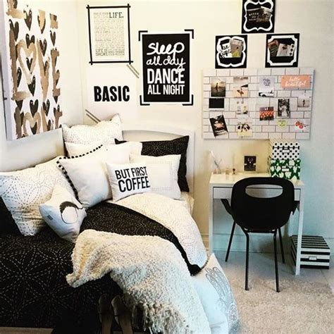 black and white teenage girl bedroom ideas basic tumblr teen girl room black and white google