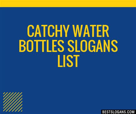catchy water bottles slogans list taglines phrases