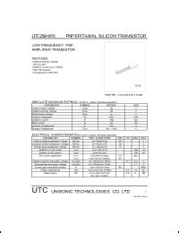 a1015 pnp transistor datasheet a1015 datasheet pnp epitaxial silicon transistor from unisonic technologies co
