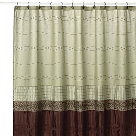 Kas Shower Curtain buy kas romana 54 inch w x 78 inch l fabric stall shower curtain in green from bed bath beyond
