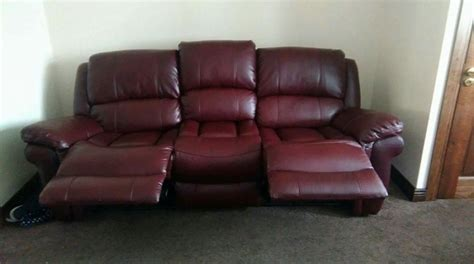 wine leather sofa 3 2 wine leather sofa for sale in clondalkin dublin from