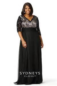 Plus size lace formal 3 4 sleeves sc4018 sydney s closet