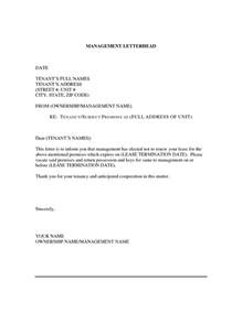 Letter Of Nonrenewal Of Employment Contract Non Renewal Lease Letter Template Letter Template 2017