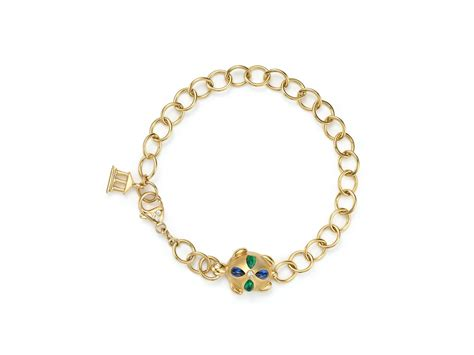 temple st clair 18k gold turtle oval link bracelet with