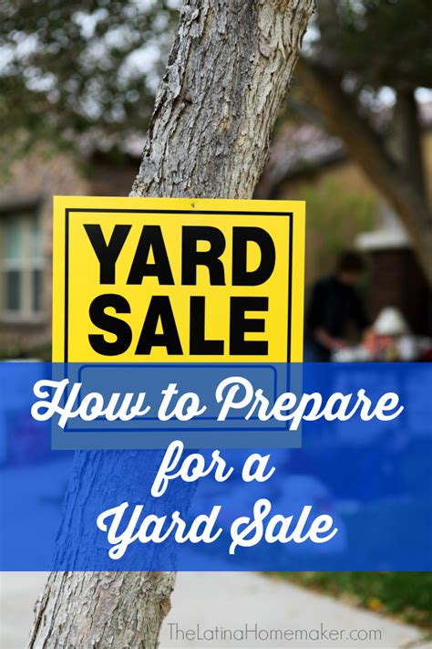How To Prepare For A Garage Sale by How To Prepare For A Yard Sale