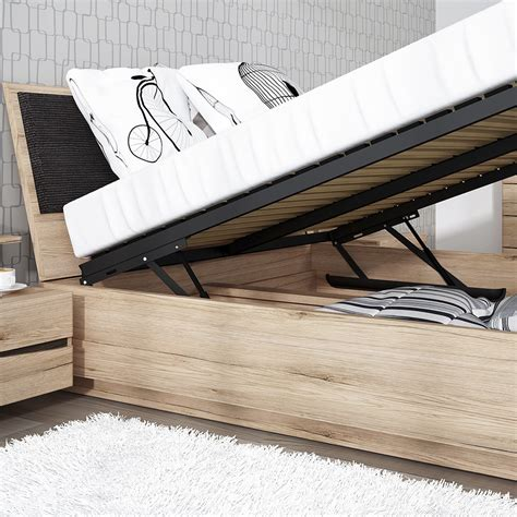 Lifting Bed Frame Kensington 140cm Bed Frame With Lift Up Frame Inc Slats In Oak
