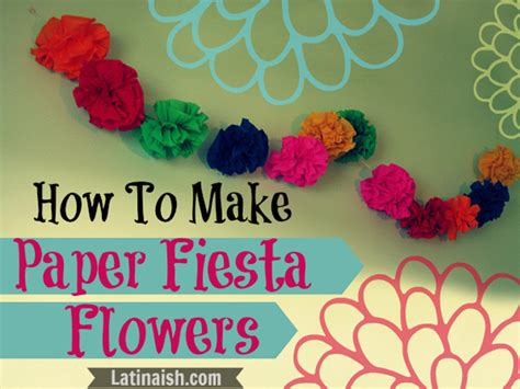 How To Make Mexican Paper Flowers Step By Step - 31 crafts for hispanic heritage month