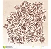 Henna Tattoo Flower Paisley Doodle Vector Design Royalty Free