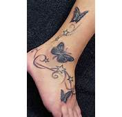 14 Ankle And Foot Butterfly Tattoo