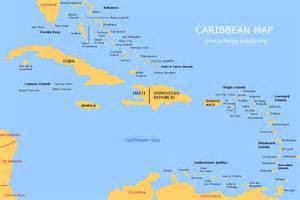 Caribbean pleasure map of the caribbean islands