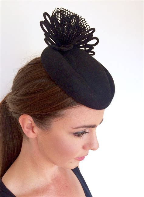 black fascinator womens races hat kentucky derby hat