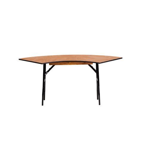5 Foot Folding Table Flash Furniture 5 5 X 2 Serpentine Wood Folding Banquet Table Ebay