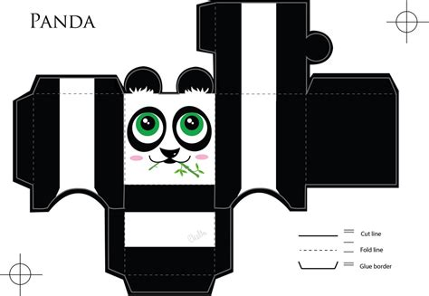 Panda Papercraft - panda paper craft by veavictis on deviantart