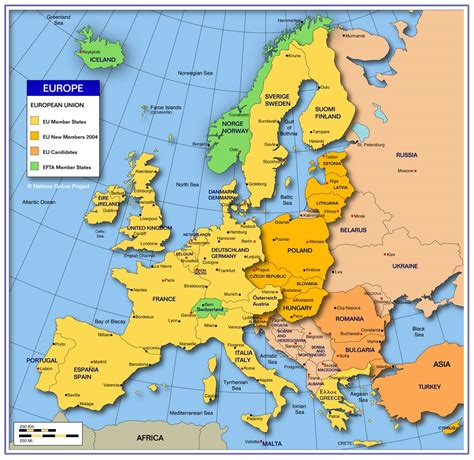 europe map all countries tabbara maps of europe