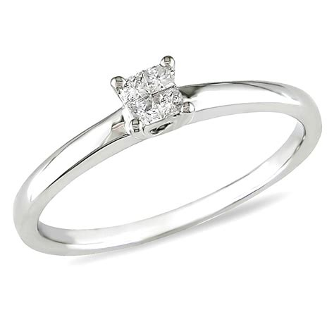 1 10 cttw promise ring in 10k white gold shop your way