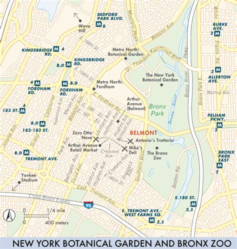 Map Of The Bronx The Bronx Fodor S Travel Guides New York Botanical Garden Map Pdf