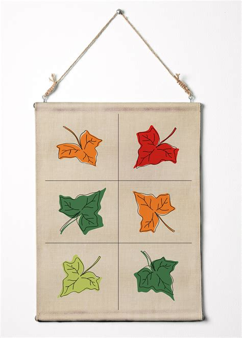 how to hang a canvas leafs on fabric texture wall art canvas wall hanging 12