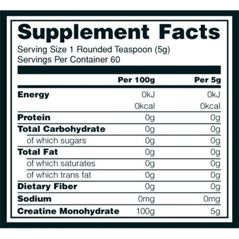 creatine nutrition facts micronized creatine powder optimum nutrition optigura uk