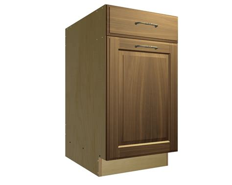 Cabinet Trash by 1 Pullout Trash And 1 Drawer Cabinet