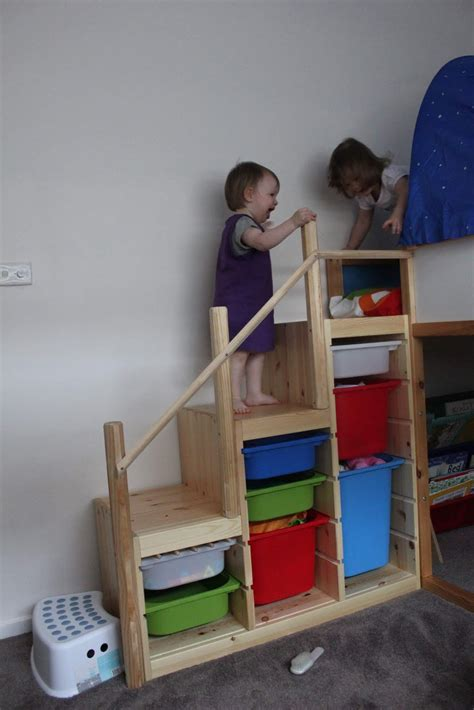 ikea kids loft bed ikea hackers ladder into steps home interior design
