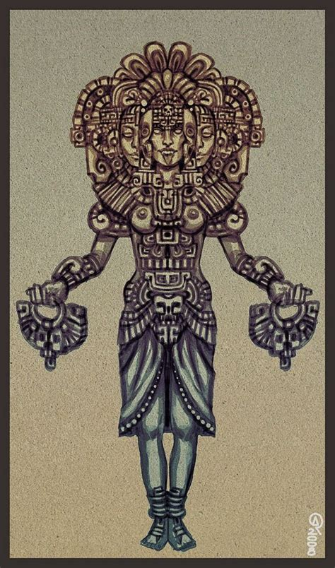 aztec tattoo art xochiquetzal mexicana aztec and