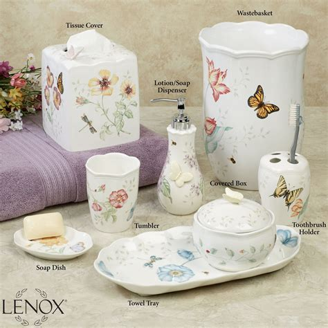 Lenox Bathroom Accessories Lenox Butterfly Meadow Porcelain Bath Accessories