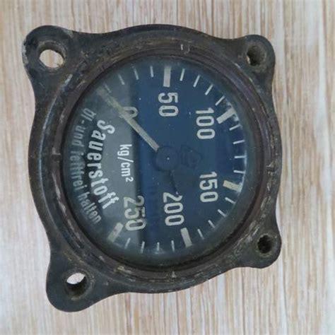 Regulator Oxygen Messer Made In German other war memorabilia ww2 german sauerstoffdruckmesser oxygen pressure fl 30496 was