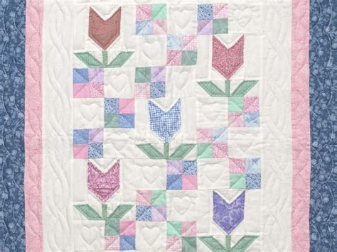Pastel Patchwork Quilts - patchwork tulips quilt magnificent meticulously made