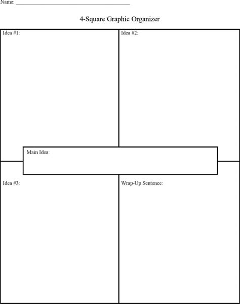 free graphic organizer templates four square writing templates free premium