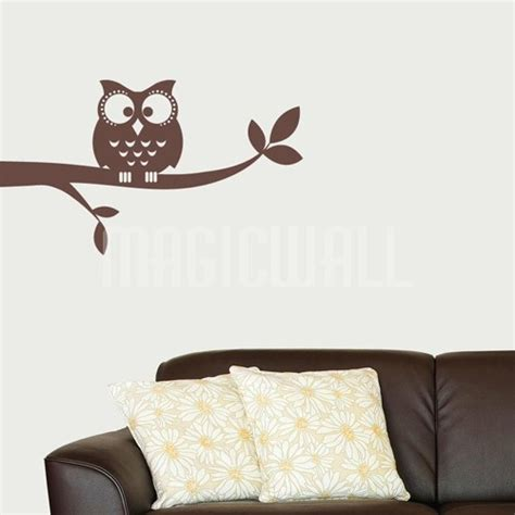 Owl On A Branch Nursery Wall Decals Stickers Canada Nursery Wall Decals Canada