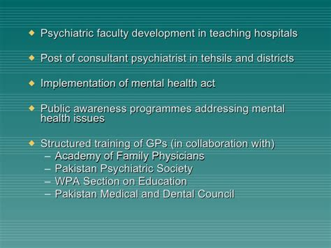 mental health issues in pakistan july 2010
