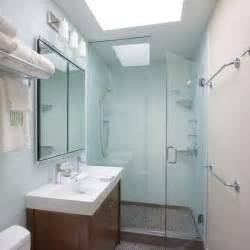 glass doors small bathroom:  with modern wall mirror in beautiful small bathrooms glass shower door