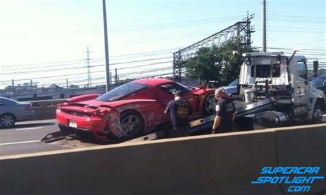 Crashed Ferrari Enzo by Ferrari Enzo Crashed In The United States