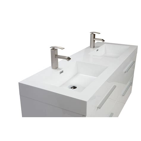 54 double sink vanity buy 54 inch modern double sink vanity set with drawers