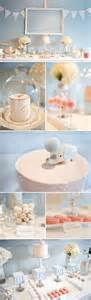 elegant pink and blue baby shower the little umbrella