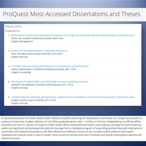 proquest dissertations theses trial access to proquest dissertations and theses global