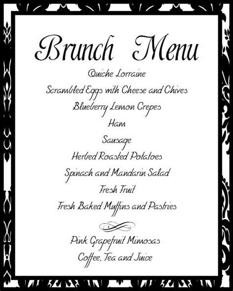 Best 25  Wedding breakfast menus ideas on Pinterest