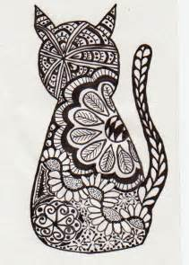zentangle cat doodles pinterest coloring sprays and