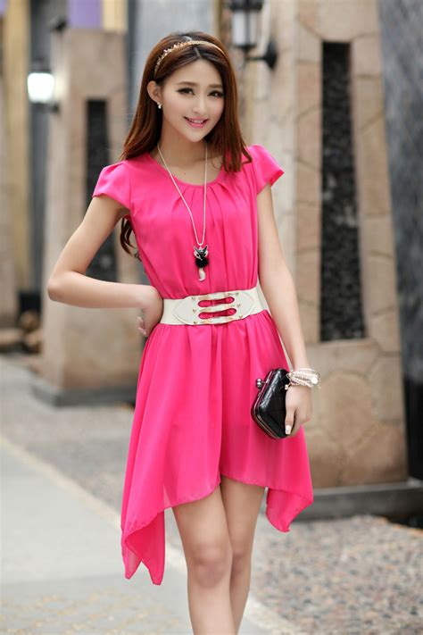 Dress Cntik dress sifon korea cantik model terbaru jual murah