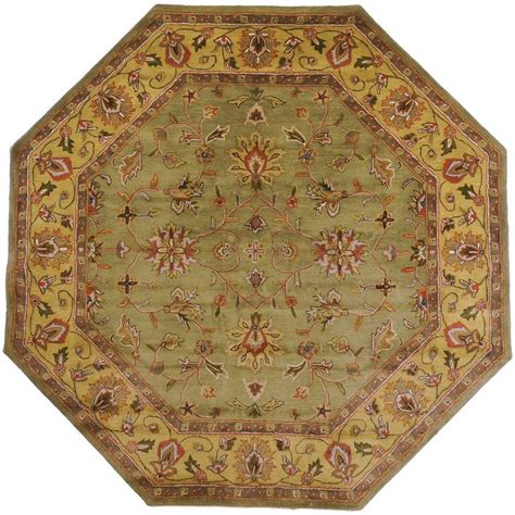 octagon rug 8 artistic weavers franklin fern wool 8 ft x 8 ft octagon area rug varna 8oct the home depot