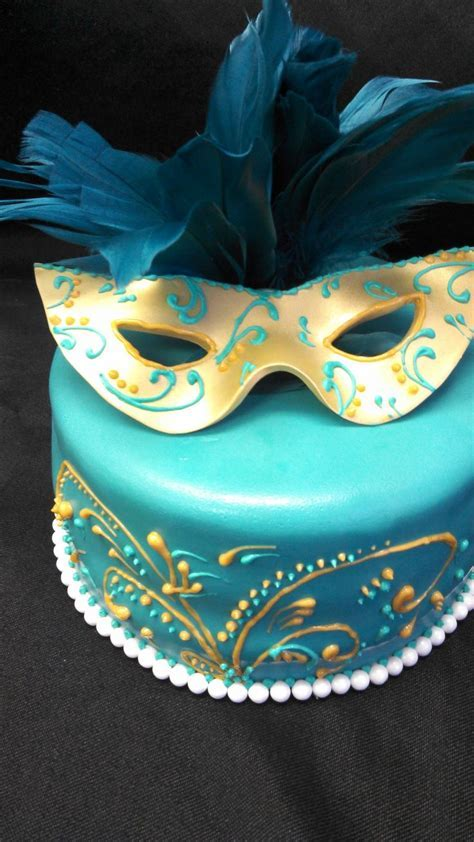 25  Best Ideas about Masquerade Cakes on Pinterest