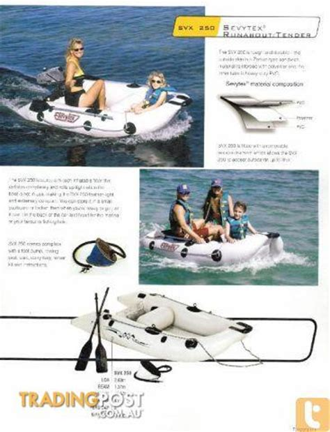 zodiac inflatable boat for sale au sevylor by zodiac svx250 inflatable boat for sale in