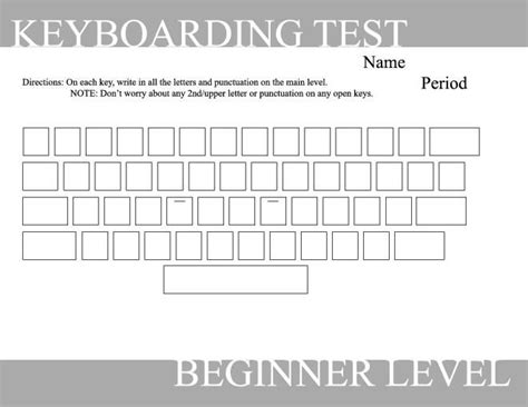 blank typing keyboard worksheet keyboarding writing