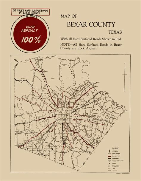 Bexar County Civil Search County Maps Bexar County Tx By Unknown 1923